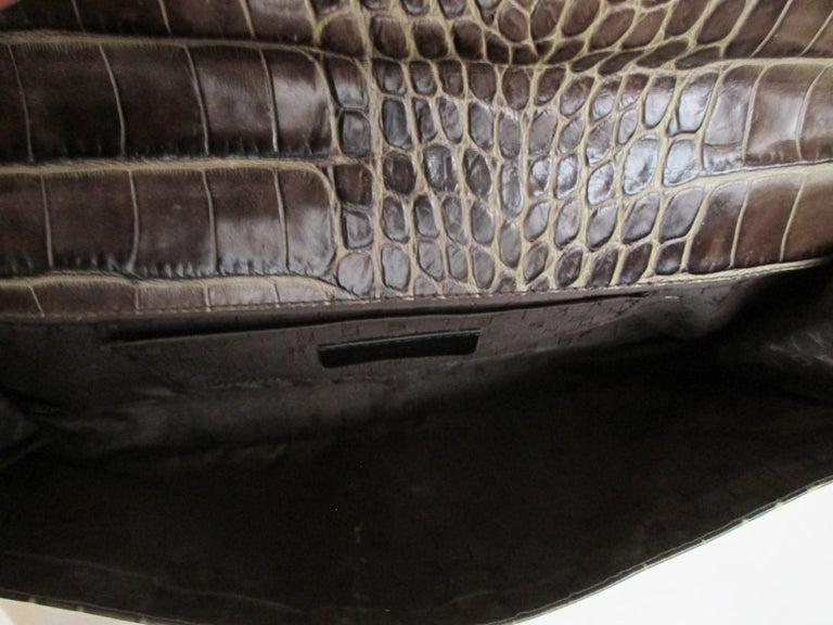 Women's or Men's Sonia Rykiel Paris printed Embossed Leather Hand Bag For Sale