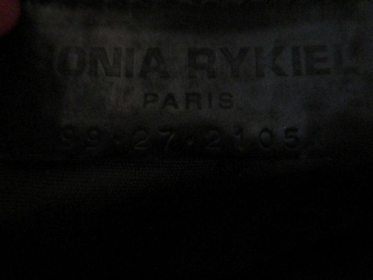 Sonia Rykiel Paris printed Embossed Leather Hand Bag For Sale 1