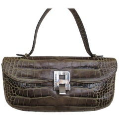 Sonia Rykiel Paris printed Embossed Leather Hand Bag