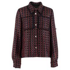 Sonia Rykiel point-collar tweed jacket  SIZE 36