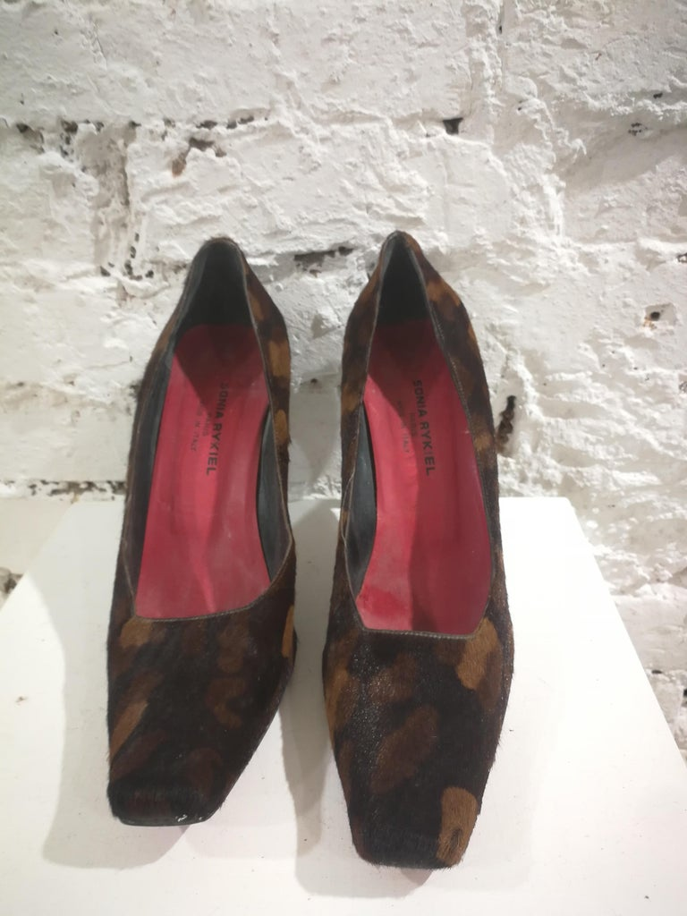 Sonia Rykiel Pony Hair Decollete totally made in italy in size 39.5 heel: 10 cm