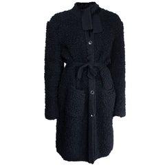 Sonia Rykiel  quintessentially French black knitted wool coat, circa 1960s