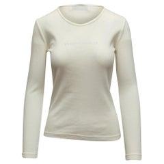 Sonia Rykiel White Long Sleeve Top
