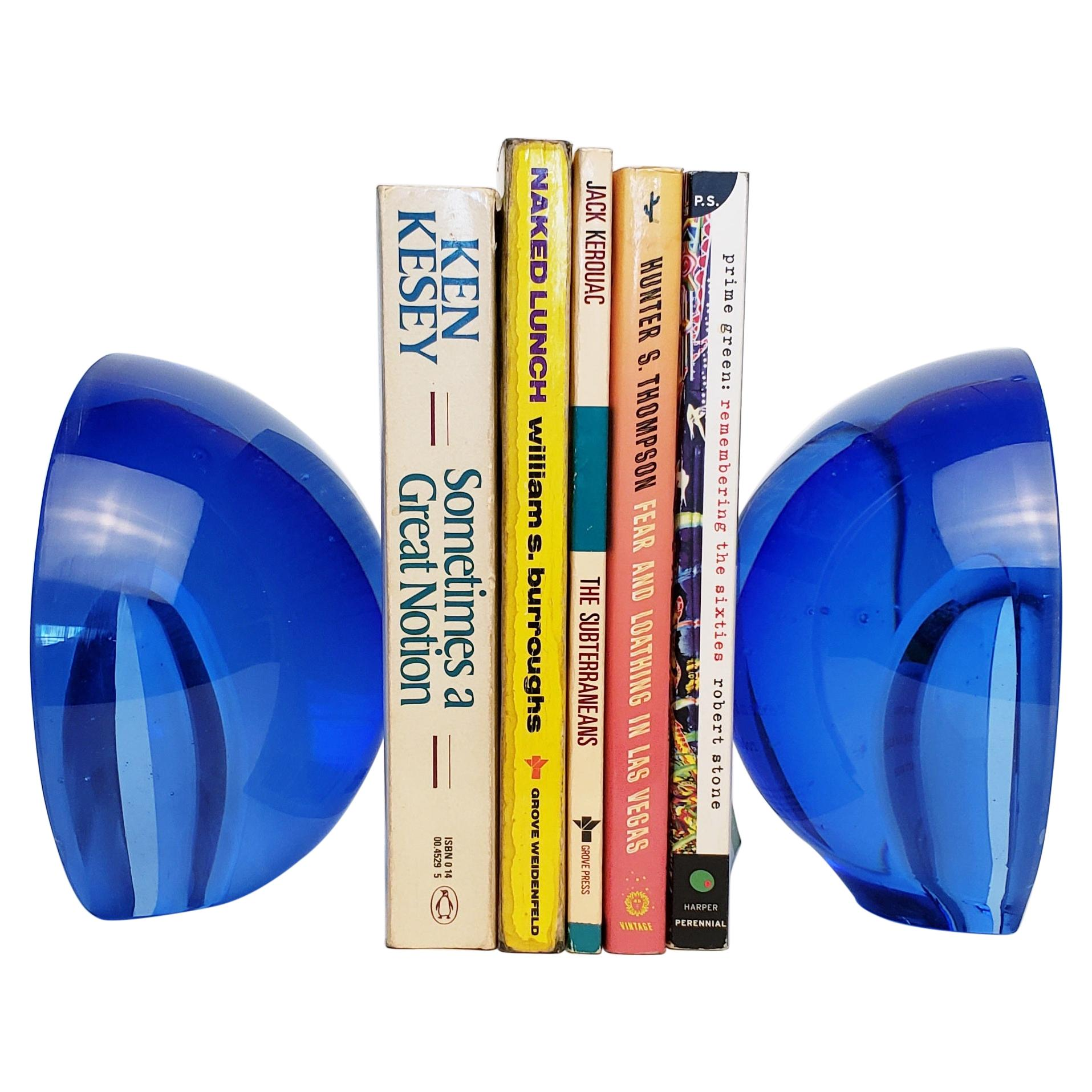 Sonic Bookends - Handmade Contemporary Glass Bookends - Customizable