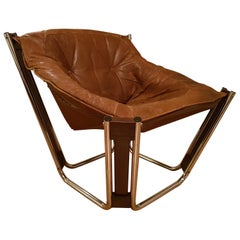 Sonic Chair 1970s Scandinavian Modern Lounge Chair by Odd Knutsen in Norway