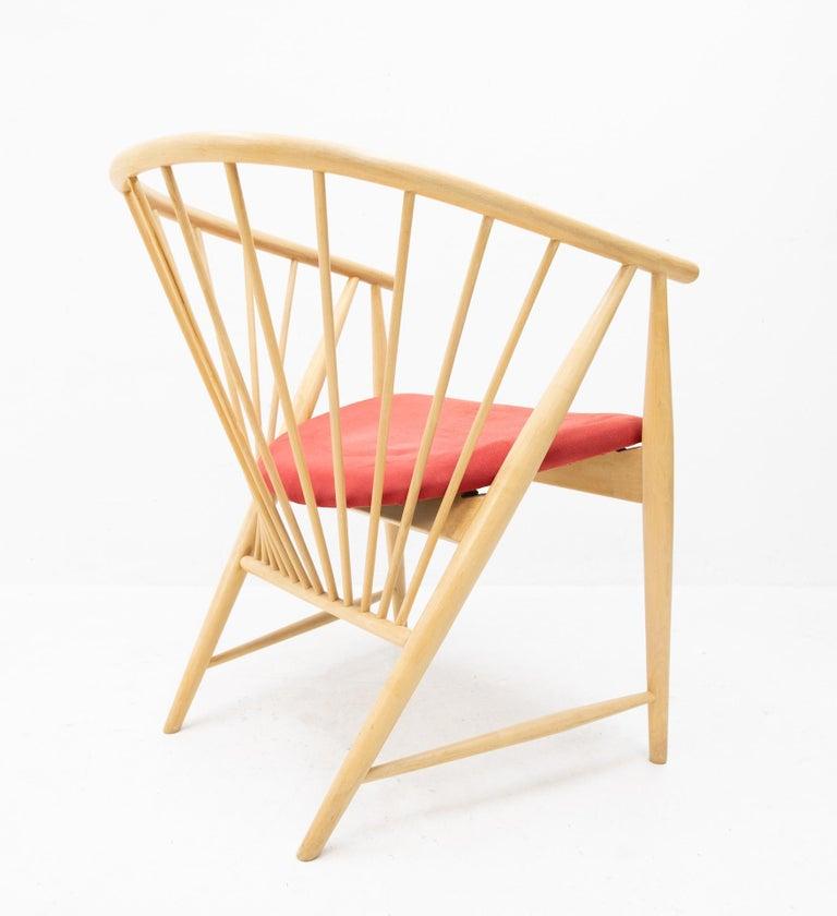 Swedish Sonna Rosen Sun Feather Chair, 1950s