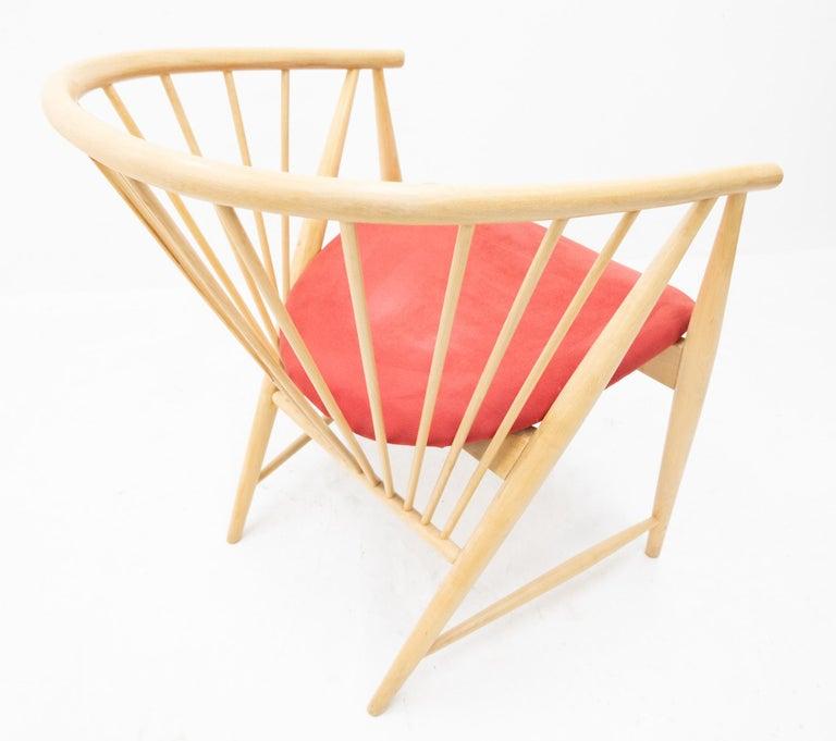 Sonna Rosen Sun Feather Chair, 1950s In Good Condition In Den Haag, NL