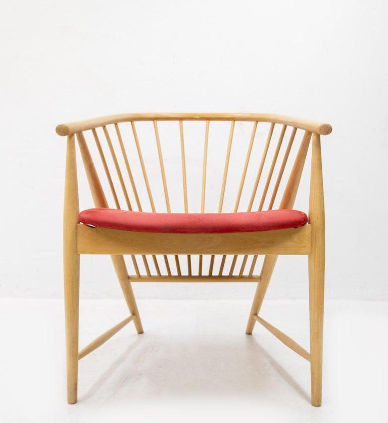 Beech Sonna Rosen Sun Feather Chair, 1950s