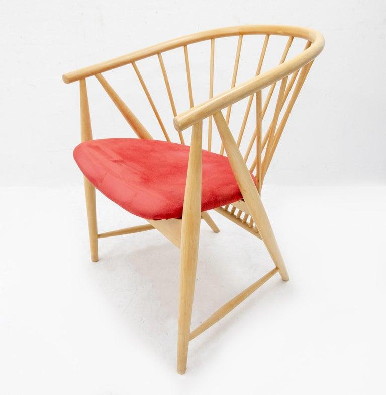 Sonna Rosen Sun Feather Chair, 1950s 2