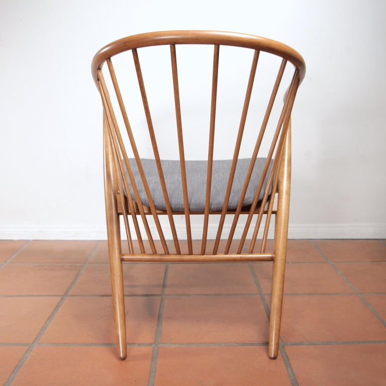 Swedish Sonna Rosen Sun Feather Chair for Nassjo Stolfabrik of Sweden, 1948 For Sale