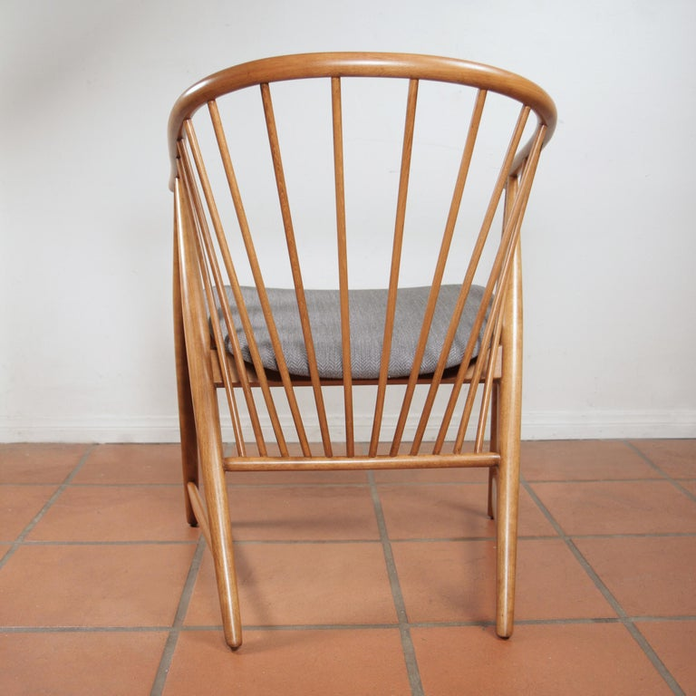 Birch Sonna Rosen Sun Feather Chair for Nassjo Stolfabrik of Sweden, 1948 For Sale