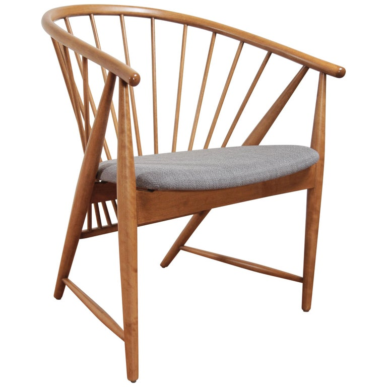 Sonna Rosen Sun Feather Chair for Nassjo Stolfabrik of Sweden, 1948 For Sale