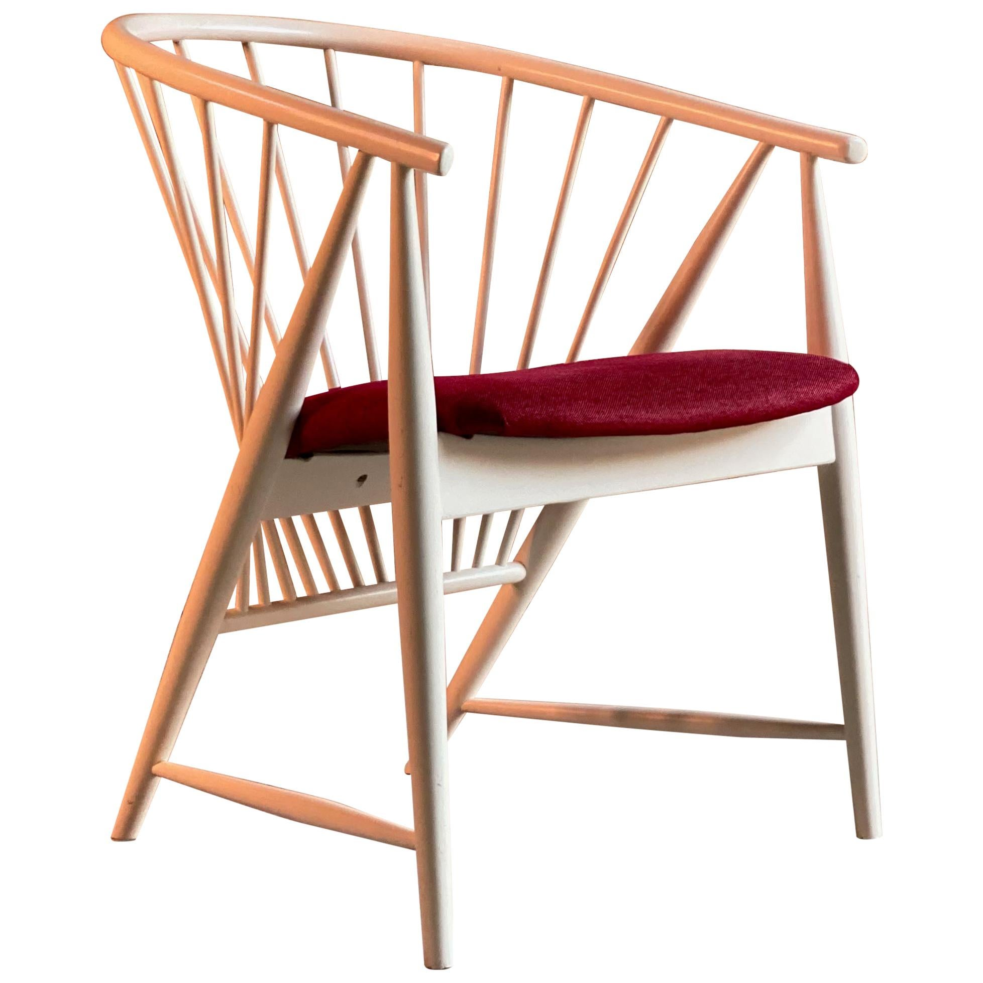 Sonna Rosen Sun Feather Chair Midcentury Design Sweden, circa 1990