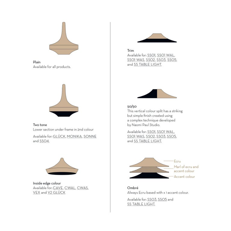 Contemporary Sonne Pendant Light, Hand Crocheted in 100% Mercerized Egyptian Cotton For Sale