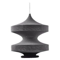 Sonne Ø50cm / 19.6in. Pendant Light, Hand Crocheted in 100% Egyptian Cotton