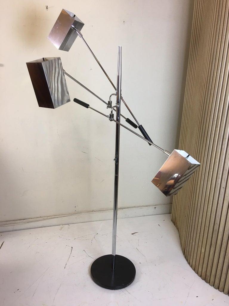 American Sonneman 3 Shade Floor Lamp For Sale