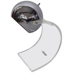 Sonneman Swivel Chrome Ball Lamp with Lucite Base