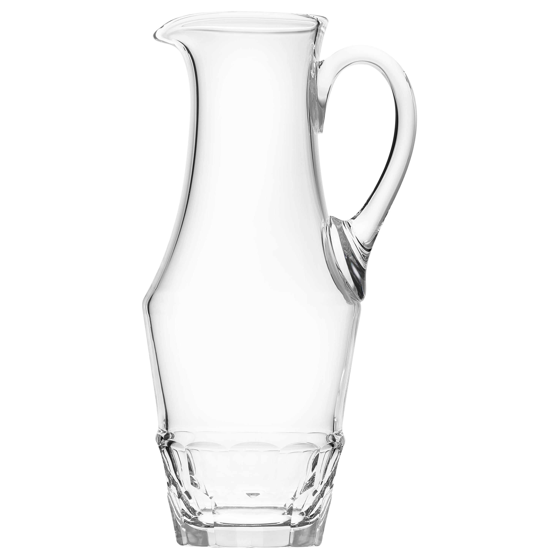 Sonnet Water Jug Lead-Free Crystal Glass Clear, 1.5 qt.