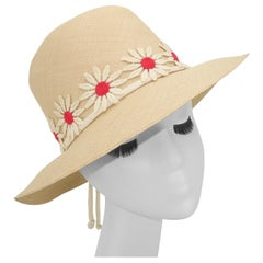 Sonni of California Straw Daisy Hat, 1960's