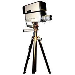 Sony Vintage Vidicon Video Camera, circa 1969-1970, Classic, Iconic with Tripod