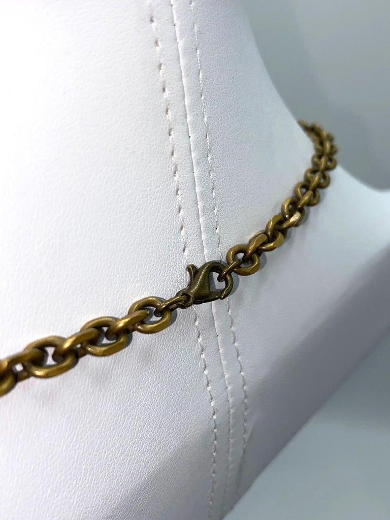 Sonya Rykiel Heart & Swallow Pendant Necklace, 1990s For Sale 5