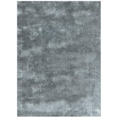 Soothing Hues Customizable Pallas Weave Rug in Frost Small