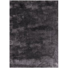 Soothing Hues Customizable Pallas Weave Rug in Gumetal Small