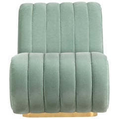 Sophia Corner Sofa in Mint Green Velvet