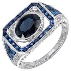 Sophia D 2.80 Carat Sapphire Diamond Platinum Engagement Ring