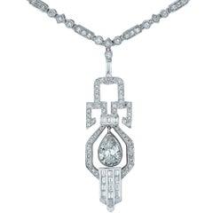 Sophia D 6.5 Carat Diamond Dangle Platinum Necklace