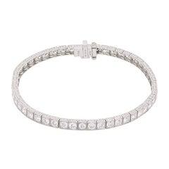 Sophia D Linked Tennis Bracelet with Round Brilliant Diamonds