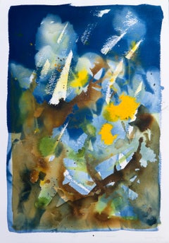 'August, Welcomed'. Botanical conceptual floriography mixed media painting