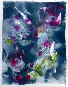'Gratitude and Grace'. Botanical environmental floriography mixed media painting