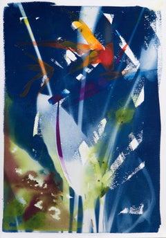 'Paradise Remembered'. Botanical environmental floriography mixed media painting