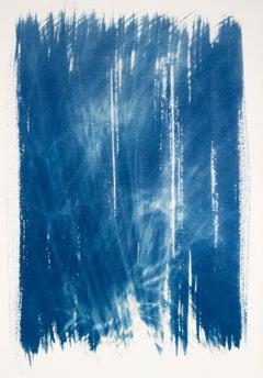 'Restlessly Westward'. Mixed media painting, framed
