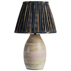Sophia Studio Ceramic Table Lamp with Shirred Fabric Lampshade