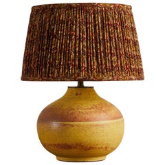 Sophia Studio Yellow Table Lamp with Shirred Fabric Shade