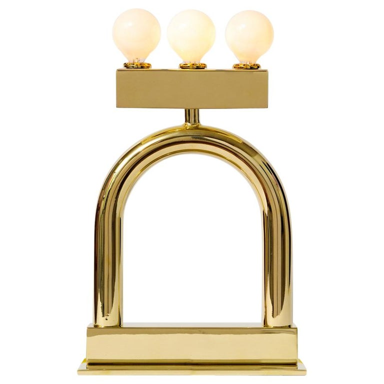 Sophia Table Lamp in Brass by Another Human, Modern Sculptural Light For Sale
