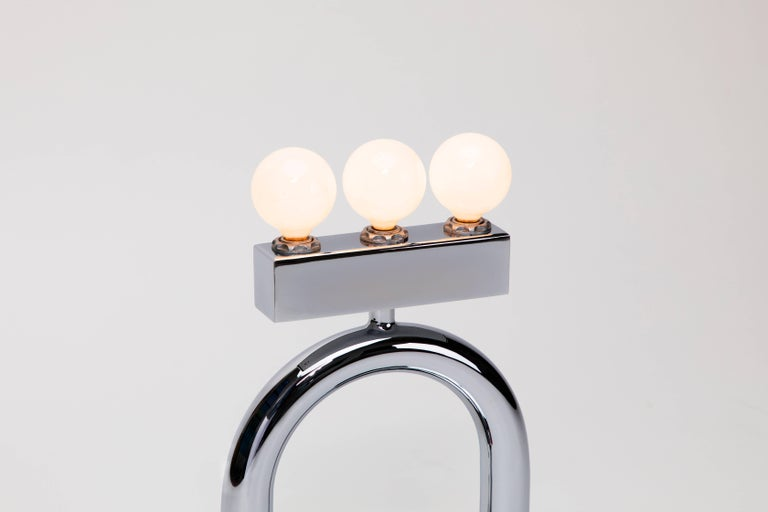 American Sophia Table Lamp in Chrome by Another Human, Modern Sculptural Light For Sale