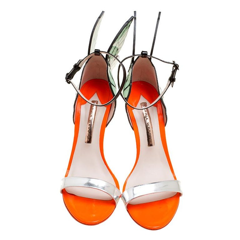 25fffef7ff ... Leather Chiara Butterfly Wing Open Toe Sandals Size 38 For Sale. When  it comes to quirky, stylish and modern designs, Sophia Webster tops our list