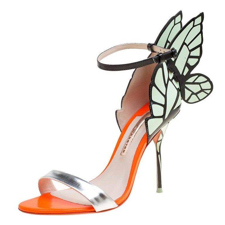 c95952537d23 Sophia Webster Multicolor Leather Chiara Butterfly Wing Open Toe Sandals  Size 38 For Sale