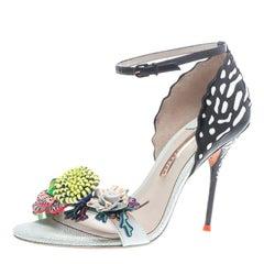 Sophia Webster Multicolor Leather Lilico Flower Embellished Ankle Strap Open Toe