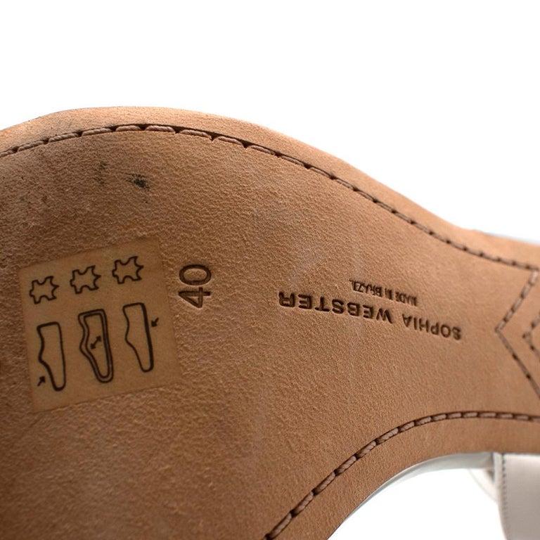 Sophia Webster Silver Leather Crystal Embellished Heels 40 For Sale 6