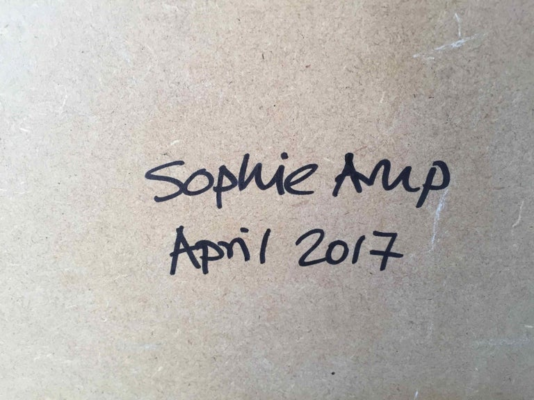 Squares Squared I: Hand-painted and Collaged Squares by Sophie Arup For Sale 14