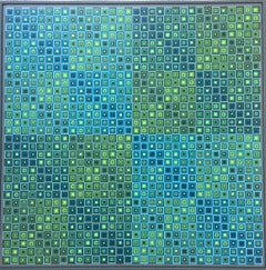 Squares Squared: Optical Collage of Handpainted Squares by Sophie Arup