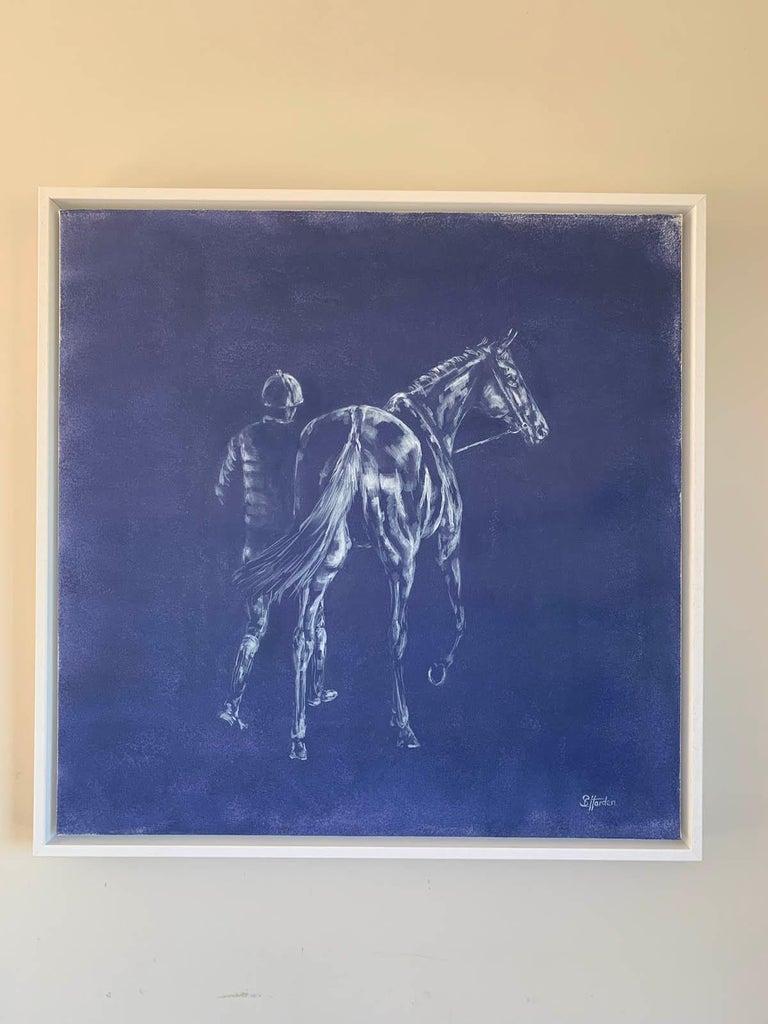Sophie Harden, Next Lot, Horse Art for Sale, Animal Art for Sale, Original Oil - Purple Animal Painting by Sophie Harden