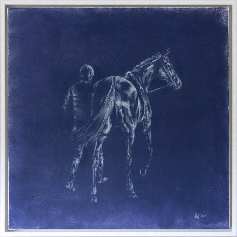 Sophie Harden, Next Lot, Horse Art for Sale, Animal Art for Sale, Original Oil - Painting by Sophie Harden