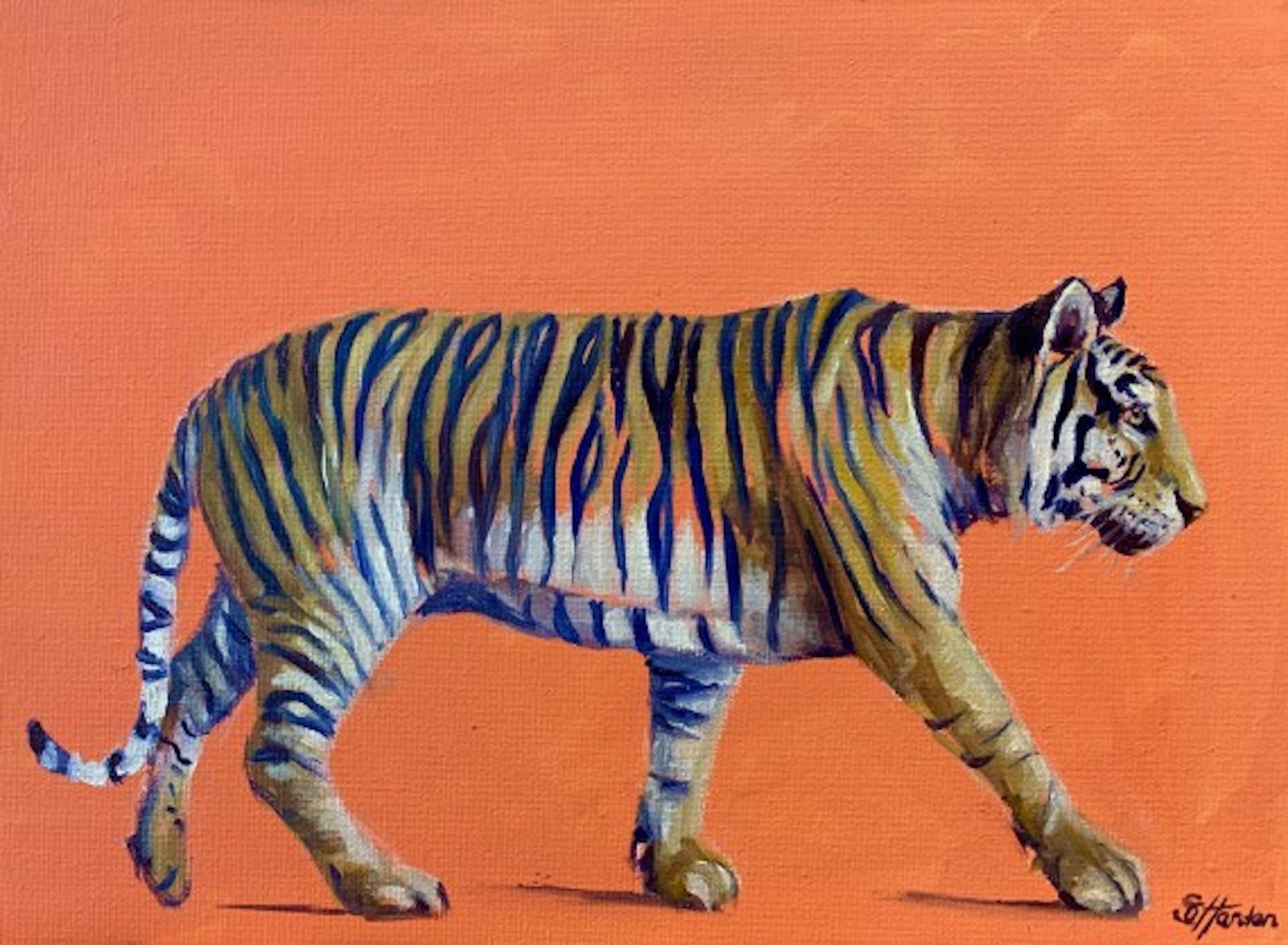 Sophie Harden, Tiger Tiger Burning Bright, Original Contemporary Tiger Painting