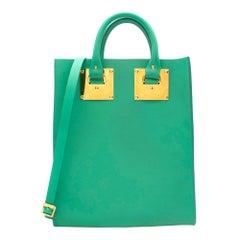 Sophie Hulme Fluro Green Square Albion Bag