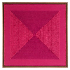 "Sophie Rowley ""Khadi Fray"" Contemporary Tapestry, Pink Handloomed Cotton, 2020"